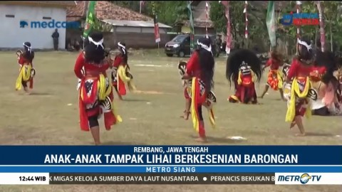 Melihat Kesenian Barongan Cilik di Rembang