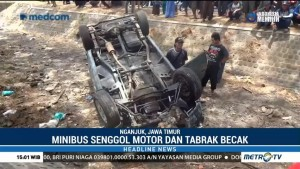 Kecelakaan Beruntun di Nganjuk, 2 Tewas