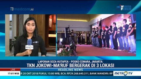 TKN Jokowi-Ma'ruf Lantik Tim Kampanye Daerah di 3 Provinsi