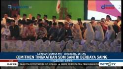 Jokowi Tegaskan Komitmen Beri Perhatian kepada Pesantren dan Santri