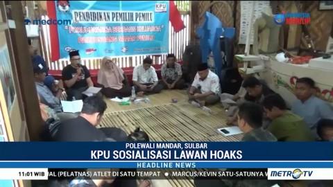 KPU Sulbar Gencarkan Sosialisasi Lawan Hoaks