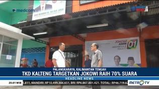 Jokowi-Ma'ruf Targetkan 70% Suara di Kalteng