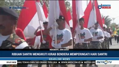 Ribuan Santri di Indramayu Ikut Kirab Satu Negeri