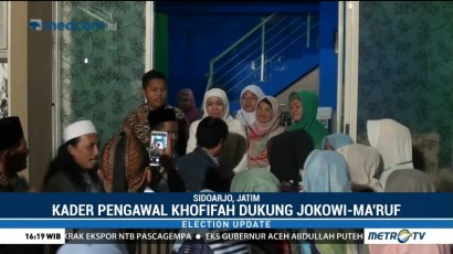 Kader Pengawal Khofifah Dukung Jokowi-Ma'ruf di Pilpres 2019