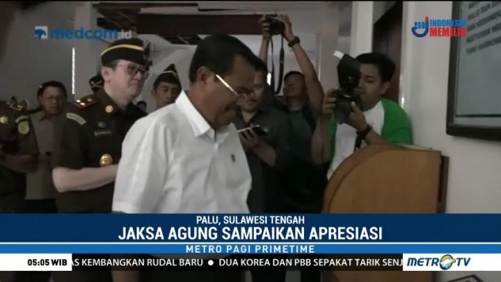 Jaksa Agung Tinjau Lokasi Terdampak Gempa Sulteng