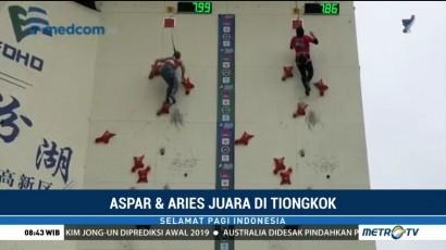 Aries Susanti dan Aspar Jaelolo Juara Dunia Panjat Tebing