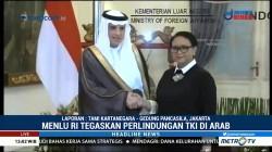 Retno Marsudi Terima Kunjungan Menlu Arab Saudi di Gedung Pancasila
