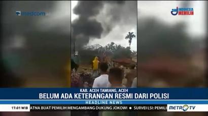 Mapolsek Bendahara Aceh Tamiang Dibakar Massa