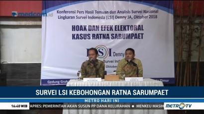 Survei LSI: Pascakasus Hoaks Ratna, Elektabilitas Prabowo Turun