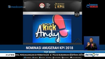 Tiga Program Metro TV Masuk Nominasi Anugerah KPI 2018