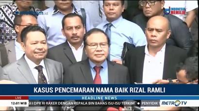 Rizal Ramli Diperiksa Terkait Kasus Pencemaran Nama Baik