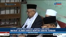 Ma'ruf Amin Silaturahmi ke Ponpes Al Muayyad
