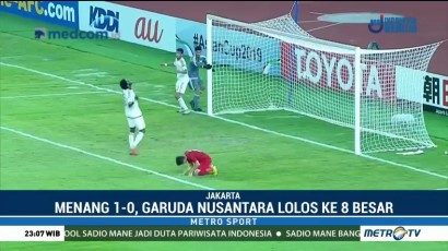 Kalahkan UEA, Indonesia Lolos ke 8 Besar Piala AFC U-19