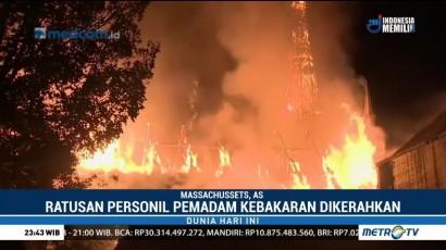 Kebakaran Gereja di AS, Ratusan Pemadam Dikerahkan