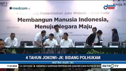 Perkembangan Bidang Polhukam Selama 4 Tahun Jokowi-JK