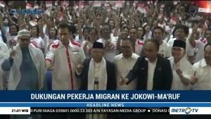 Ribuan Pekerja Migran Dukung Jokowi-Ma'ruf di Pilpres 2019