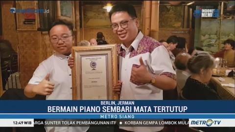 Anak Indonesia Pecahkan Rekor Dunia Main Piano dengan Mata Tertutup