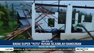 Sejumlah Bangunan di Pasifik AS Rusak Akibat Badai Topan Yutu