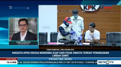 Anggota DPRD Kalteng Diduga Terima Suap Terkait Limbah Sawit