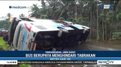 26 Penumpang Luka Berat Akibat Kecelakaan Bus di Pangandaran