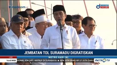 Tol Suramadu Digratiskan, Jokowi Ingin Tingkatkan Gairah Investasi di Madura