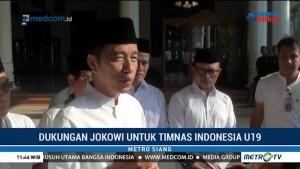 Dukungan Jokowi untuk Timnas Indonesia U-19