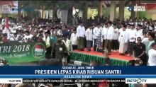 Presiden Jokowi Lepas Kirab Santri di Sidoarjo