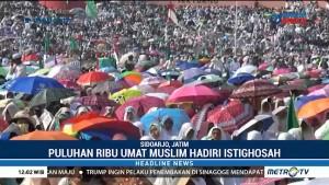 Ribuan Umat Muslim di Sidoarjo Hadiri Istighosah Kubro 2018