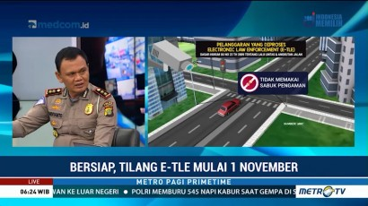Sistem Tilang E-TLE Diterapkan 1 November