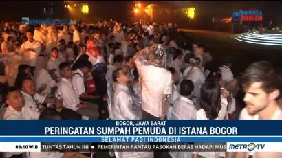 Peringatan Sumpah Pemuda di Istana Bogor Diwarnai Hujan Deras