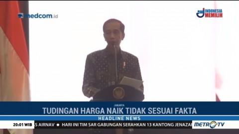 Jokowi Pastikan Harga Bahan Pokok Stabil