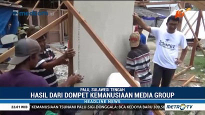Media Group Bangun 1.000 Huntara untuk Korban Gempa Sulteng