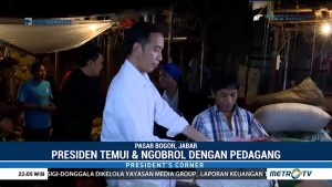 Jokowi Cek Harga Bahan Pokok di Pasar Tradisional