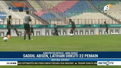 Timnas Indonesia Latihan Perdana di Stadion Wibawa Mukti
