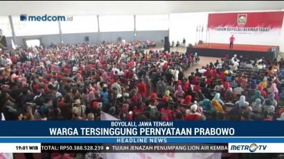 Warga Boyolali Protes Pidato Prabowo
