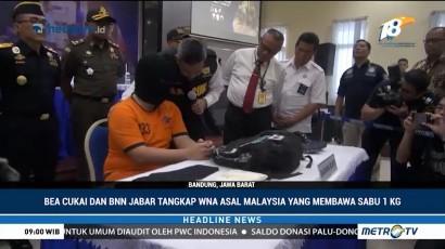 Bea Cukai & BNN Jabar Tangkap WN Malaysia Pengedar Sabu
