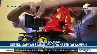 Siswa SMK di Semarang Ciptakan Robot Pembersih Sampah