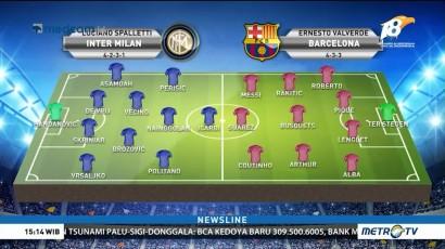 Perkiraan Formasi Inter Milan vs Barcelona