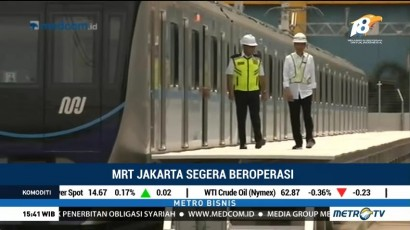 Jokowi Jajal MRT Jakarta