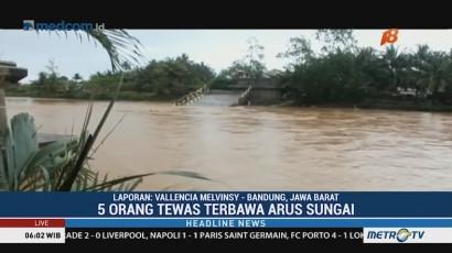 Lima Orang Tewas Akibat Banjir Bandang di Tasikmalaya