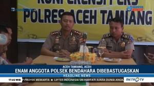 Polisi Tetapkan Sembilan Tersangka Kasus Pembakaran Mapolsek Bendahara