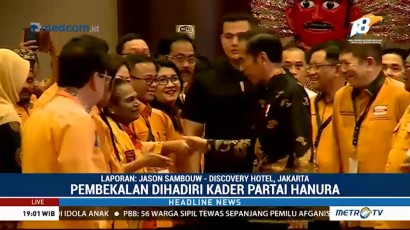 Jokowi Hadiri Pembekalan Caleg Partai Hanura