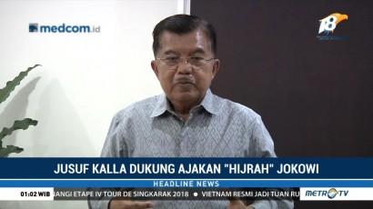 JK: Ajakan Hijrah Jokowi Jadi Harapan Masyarakat Jelang Pemilu