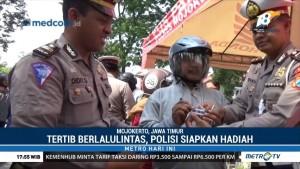 Tertib Berlalu Lintas, Polisi di Mojokerto Siapkan Hadiah