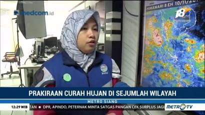 Prakiraan Curah Hujan di Sejumlah Wilayah