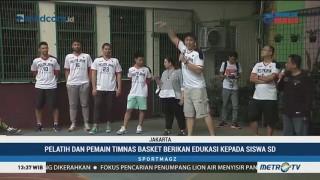 Pemain Timnas Basket Berikan Edukasi ke Siswa SD