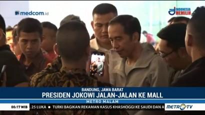 Jokowi Kunjungi Pusat Perbelanjaan di Bandung