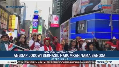 WNI Gelar Deklarasi Dukung Jokowi-Ma'ruf di Time Square