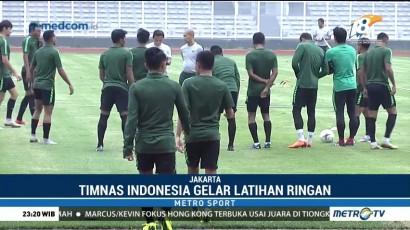 Latihan Timnas Indonesia Jelang Hadapi Timor Leste