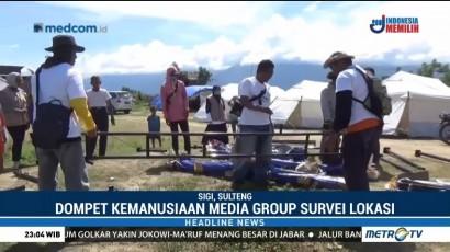 Dompet Kemanusiaan Media Group Dirikan Sekolah Darurat di Sulteng